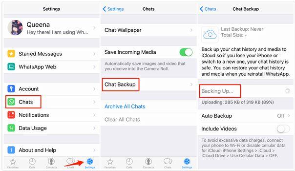 restore iOS Whatsapp