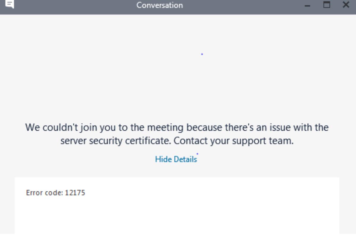 skype error code 12175