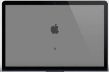 macbook air blank screen after login