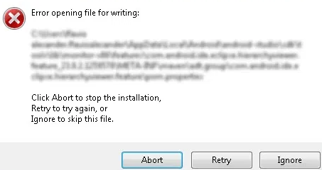 vlc error opening file for writing