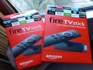 Fire TV Stick by Amazon box