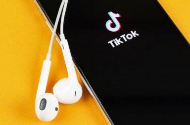 tiktok app opening on a phone