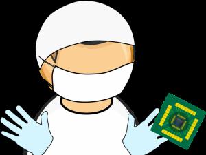 Cartoon of cleaning EE sim