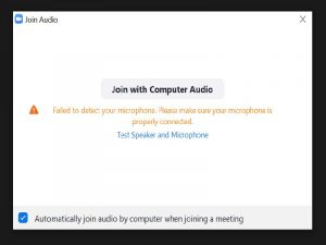 zoom join audio