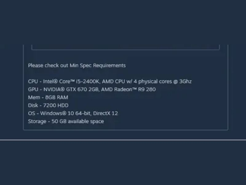 What are the system requirements for New World?